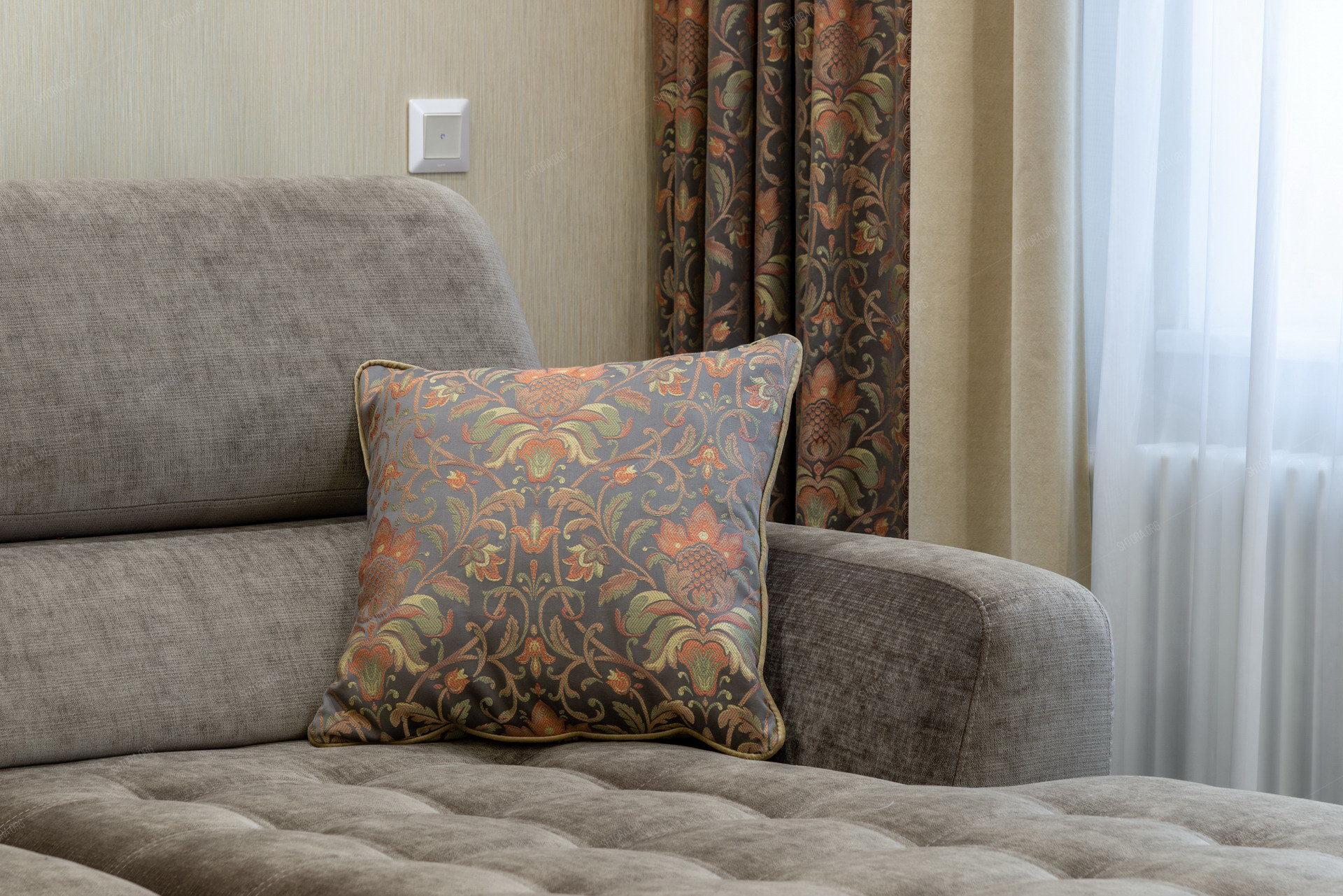Интерьерный текстиль в гостиной