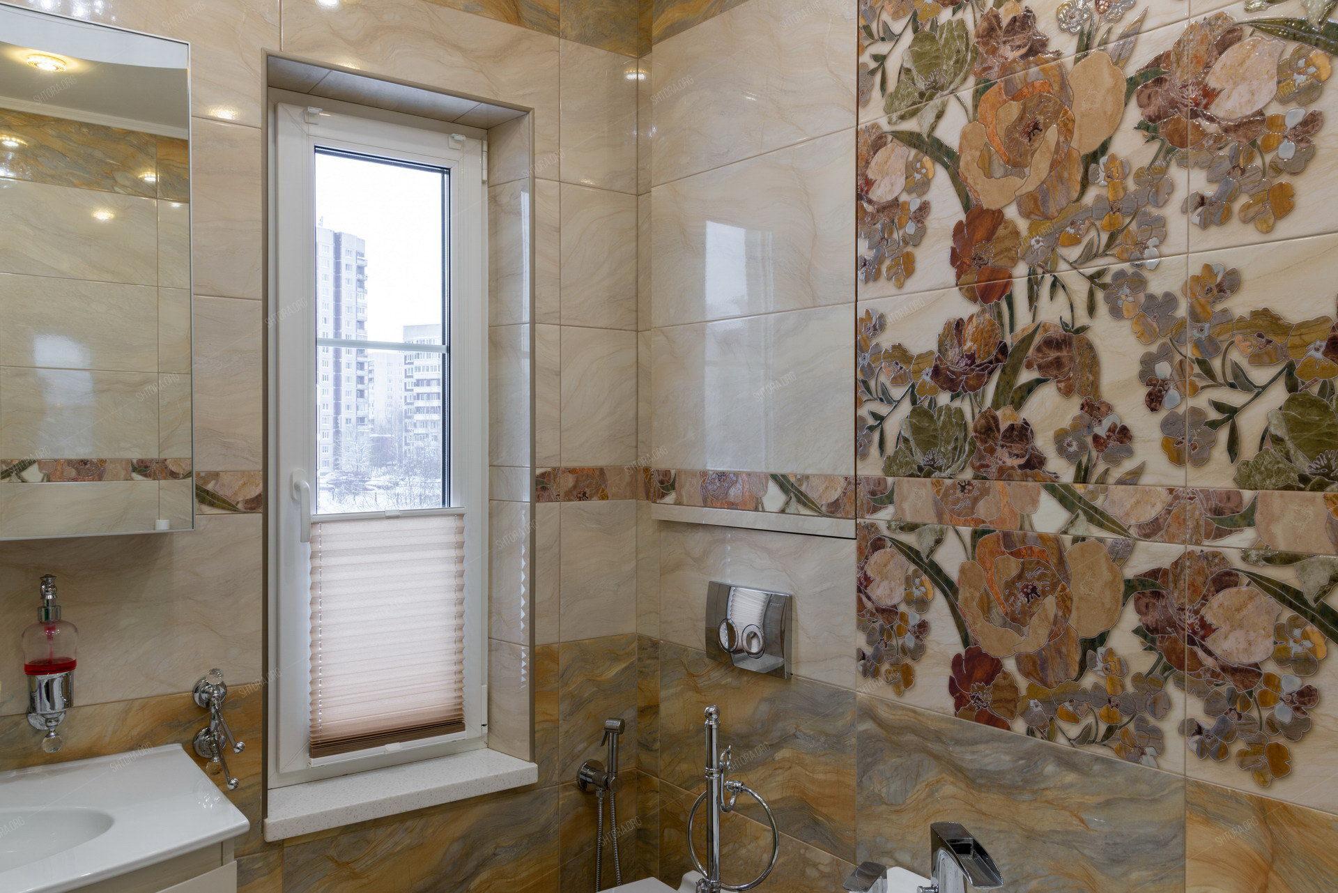 Шторы плиссе в ванной