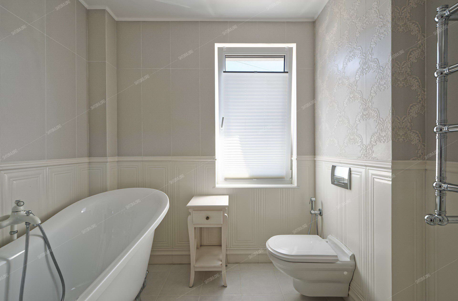 Штора плиссе в ванной