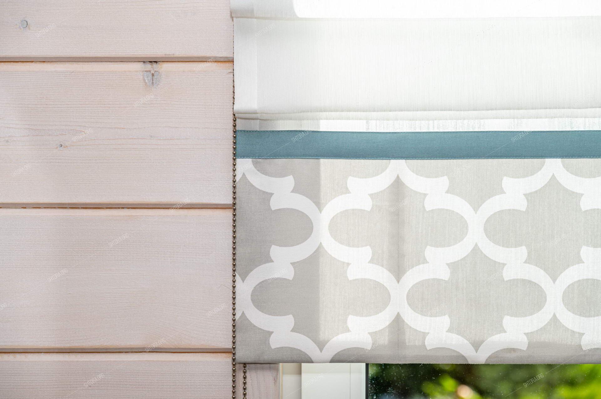 Фрагмент римской шторы с кантом