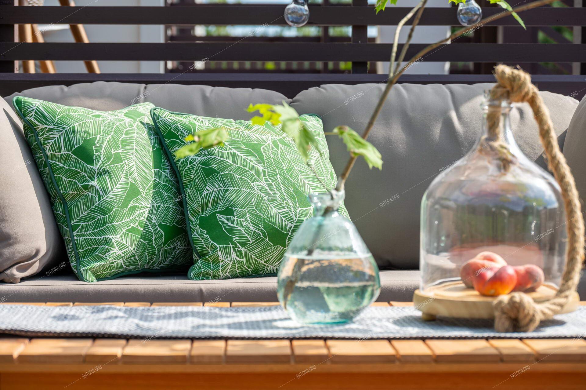 Чехлы для подушек уличной мебели, шезлонга.